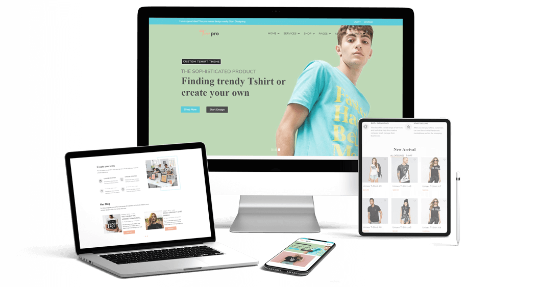 TEEPRO - T-shirt Online Designer Printing And Dropshipping Shopify Theme Workflow