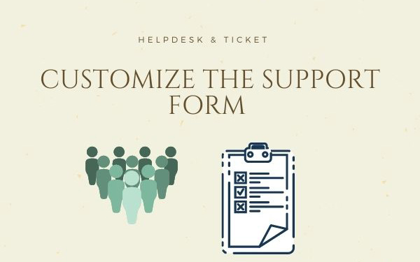 Customize the Support Form