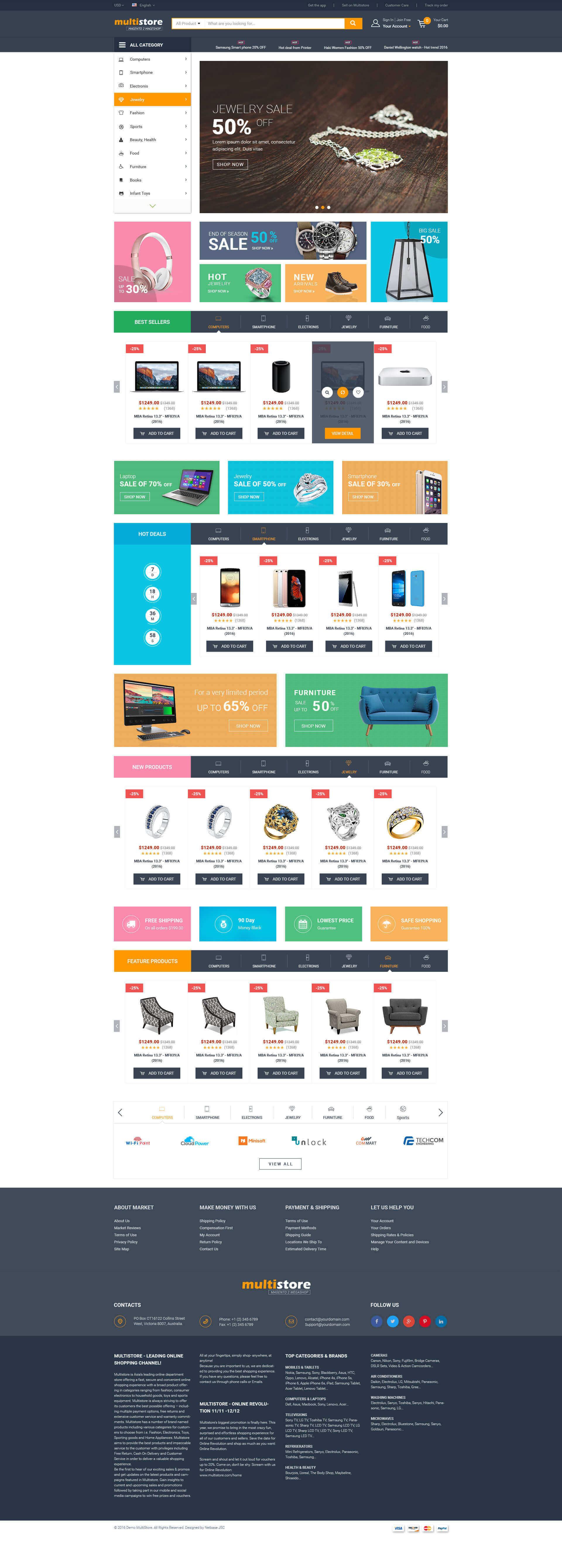 Multistore Homepage