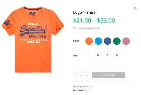 WOOCOMMERCE COLOR SWATCH