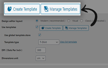 Create & Manage Template