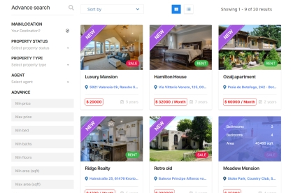 Property Listing Category