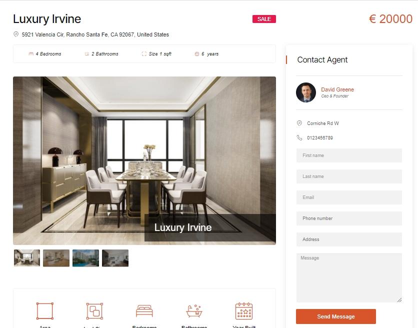 WordPress Real Estate Management
