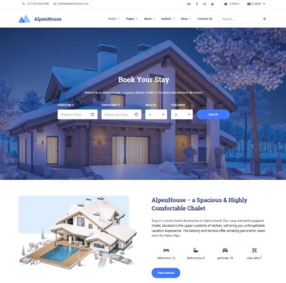 AlpenHouse Property Management WP theme