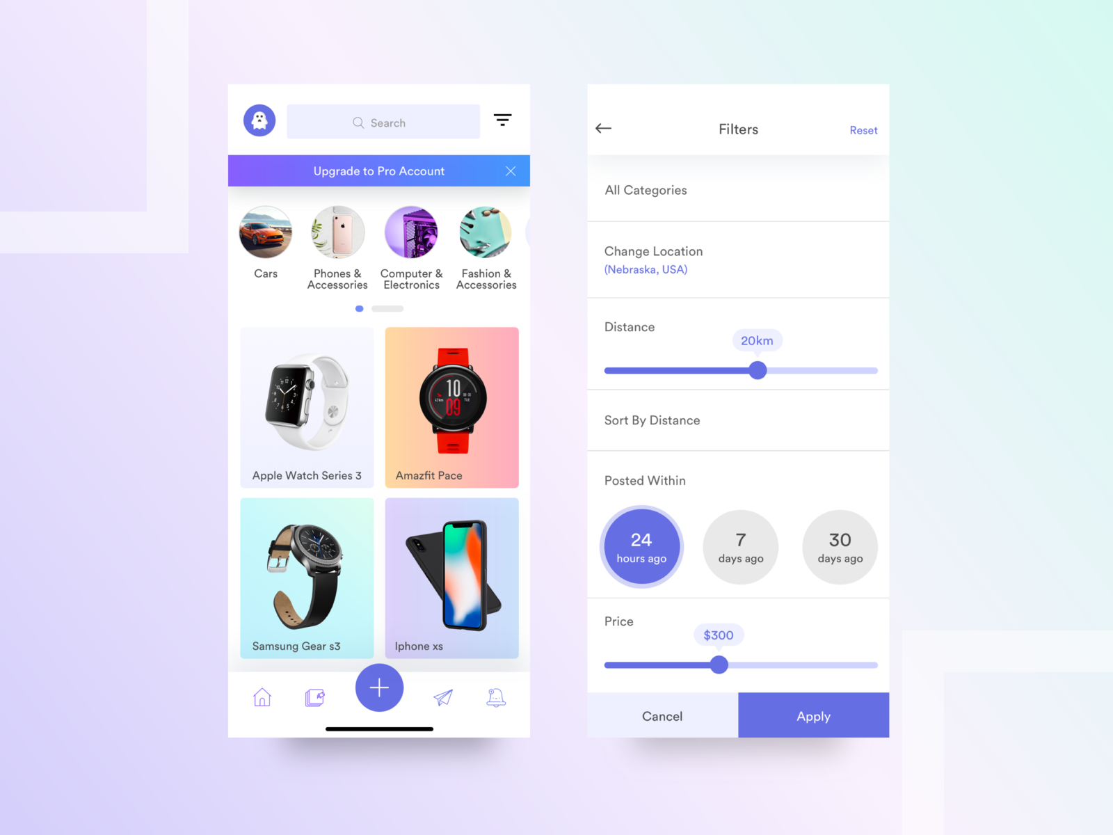 Ecommerce Mobile functionality developing