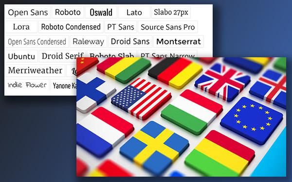 Custom Font support - Multilingual support