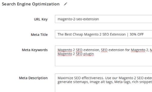 Magento SEO Metadata template rules