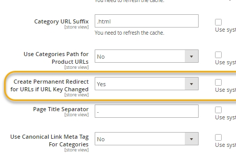 Magento Automatic Redirects