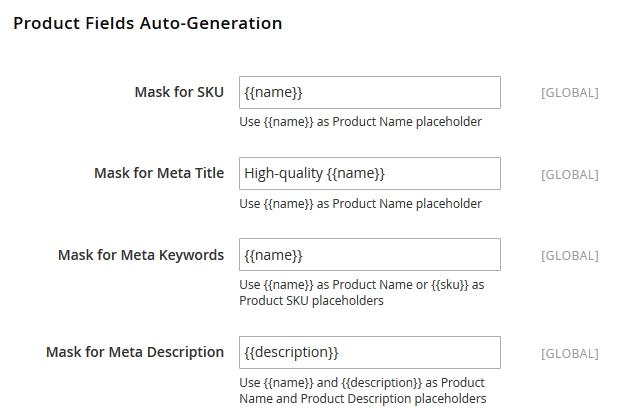Configure unique Magento product SEO