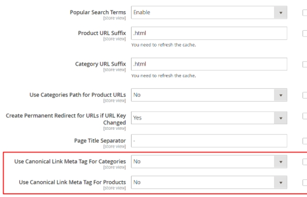 Canonical URLs Prevent Magento duplicate content
