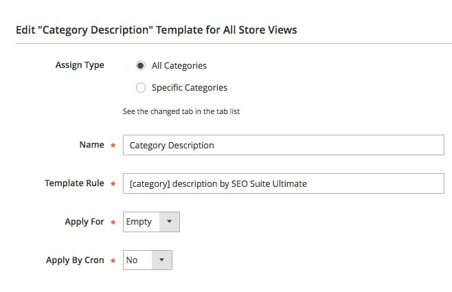 Magento Category SEO templates