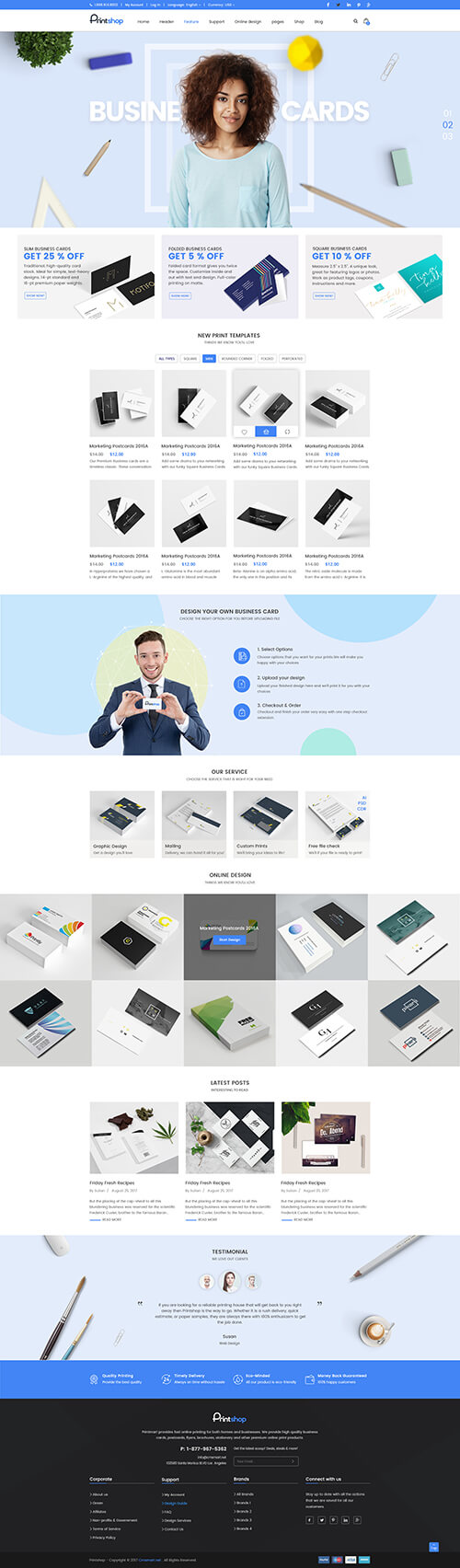 Business Card Magento 2
