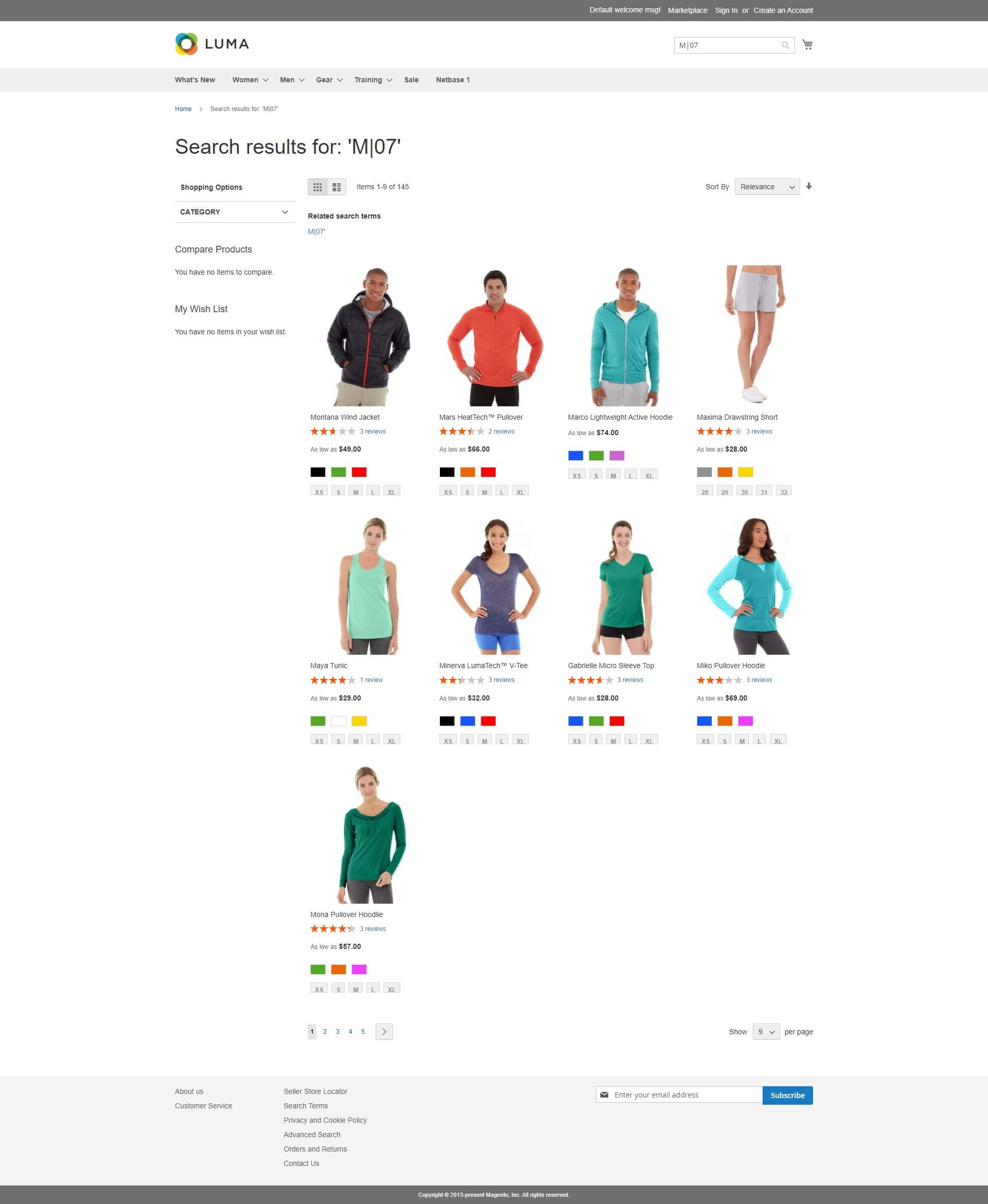 Demo Magento 2 Color Swatch and Zoom