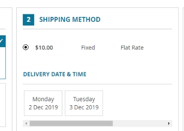 Default shipping/payment methods