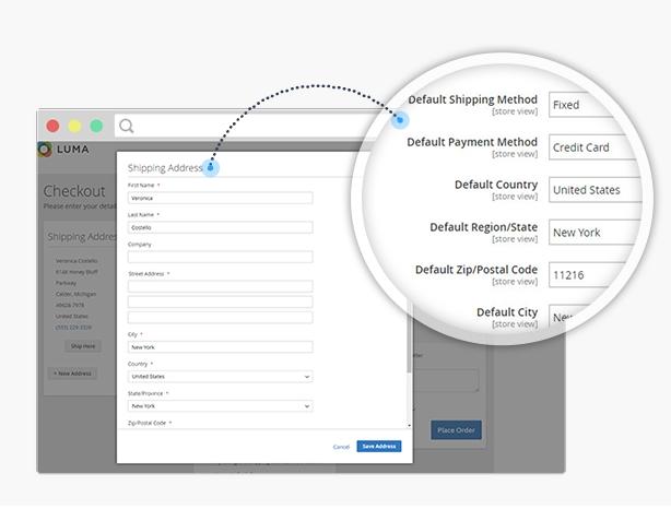 Flexible setup the default values